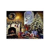 Christmas card scavenger hunt--Fireplace
