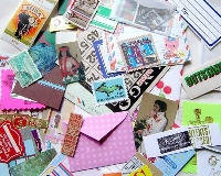 Mail Art Challenge - #5 BLUE *edited*
