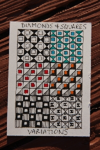 Zentangle Challenge:  Pattern Variation ATC
