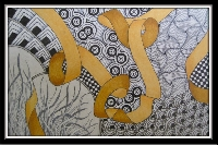 November:  Ribbon A Zentangle Challenge