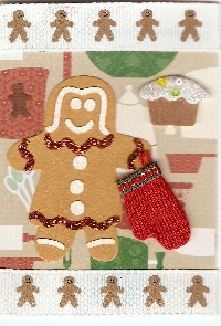Gingerbread Person ATC