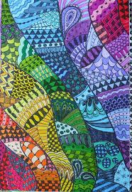 Zentangle Rainbow Series #4 GREEN