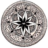 Zentangle a la Henna