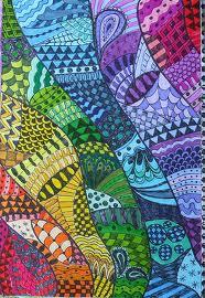 Zentangle Rainbow Series #6 INDIGO