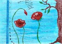 Art journal page swap - prompt febr.
