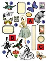 C+P ATC: 2 ATC's, 1 Collage Sheet #2