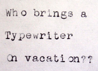 Typewriter Letter - May 2012
