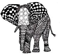 Zentangle Animals A-Z:  D