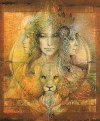 Magic ball with Goddess animal gift (USA)