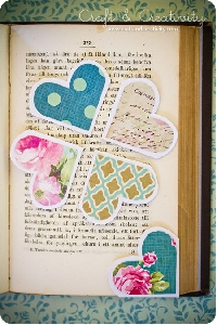 Heart shaped bookmarks (learn to make from the blo