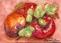 5x7 Watercolor Painting, June