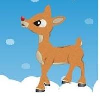 Shaped Christmas ATC Series - #3 Rudolph