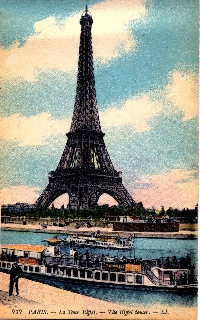 Vintage ATC w/ Eiffel Tower #3