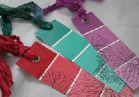 Paint Chip Bookmarks