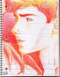 Hand Drawn Crayon ATC