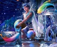 Zodiac Atc Series- Aquarius