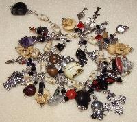 Dia de los Muertos Chunky Charm Bracelet- Handmade