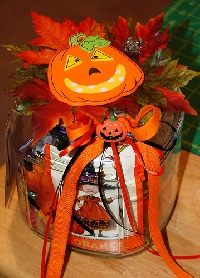 Halloween Whimsy Jar---USA Only