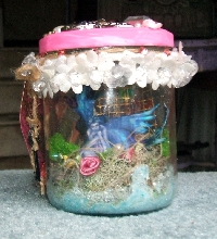 Halloween Whimsey Fairy Jar