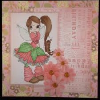 Pretty In Pink # 3 -- Handmade Greeting Card