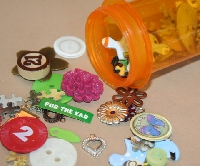 Collage Elements in a Pill Bottle