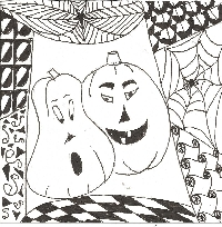 Halloween Zentangle