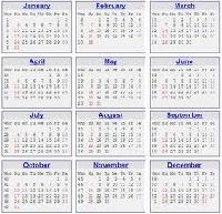 ATC-Calendar Series #4 - July-August