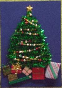 Christmas Ornament ATC #3-BLUE