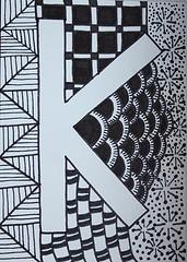 Zentangle Alphabet Letter