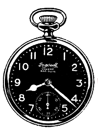 Mixed Media ATC: Clock