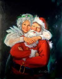 Christmas dotee swap #1 santa and mrs claus