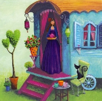 Postcards with a painting -6-