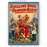 Circus series ATCs -the clown-