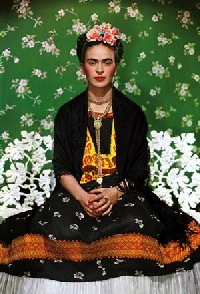 Frida Kahlo Tree Ornament- Handmade