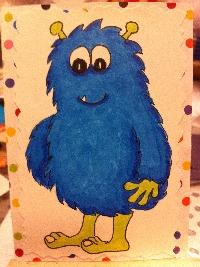 Happy Monster Series: Blue