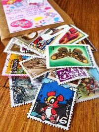Postage stamp bag swap #2