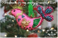 February Christmas ornament swap--Pink