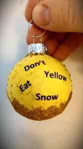 April Christmas ornament swap--Yellow