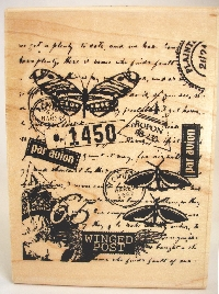 Lovely rubber stamped  envelope *USA*