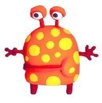 Happy Monster Series:  Polka Dots