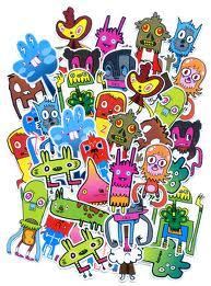 Sticker scavenger hunt+decorated envelope US only