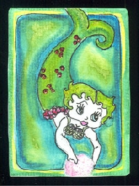 Rainbow of ATCs with one theme set of 6- march