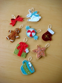 Christmas All Year!  Advent Ornament #5 and #6
