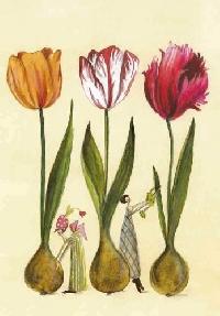 4 flower postcards swap