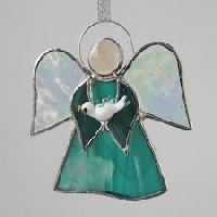June Christmas ornament--Turquoise/teal