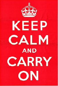 ATC:  KEEP CALM and . . . .