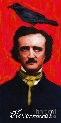 Vintage ATC: Edgar Allan Poe