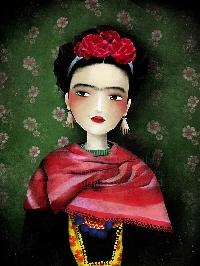 Frido Kahlo Postcard swap