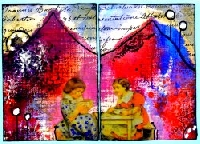 MMA- Diptych ATCs