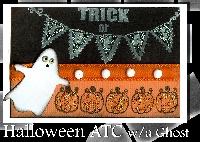 Halloween ATC w/a Ghost